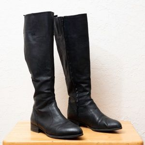 Black leather Nine West boots 8.5 pointy toe